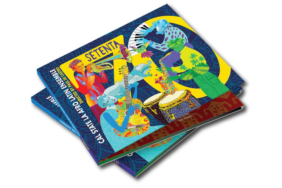 Setenta album cover by Nery Orellana.