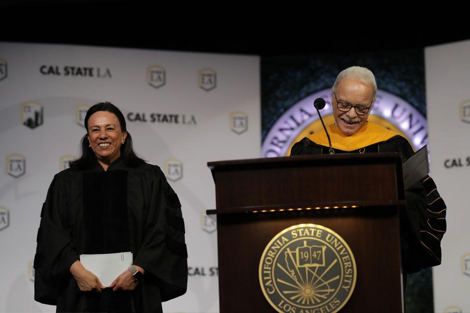 Antonia Hernández receives honorary doctorate.