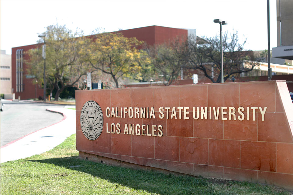 Cal State LA front entrance sign