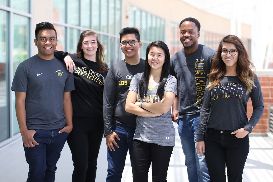 Diverse group of Cal State LA Students.