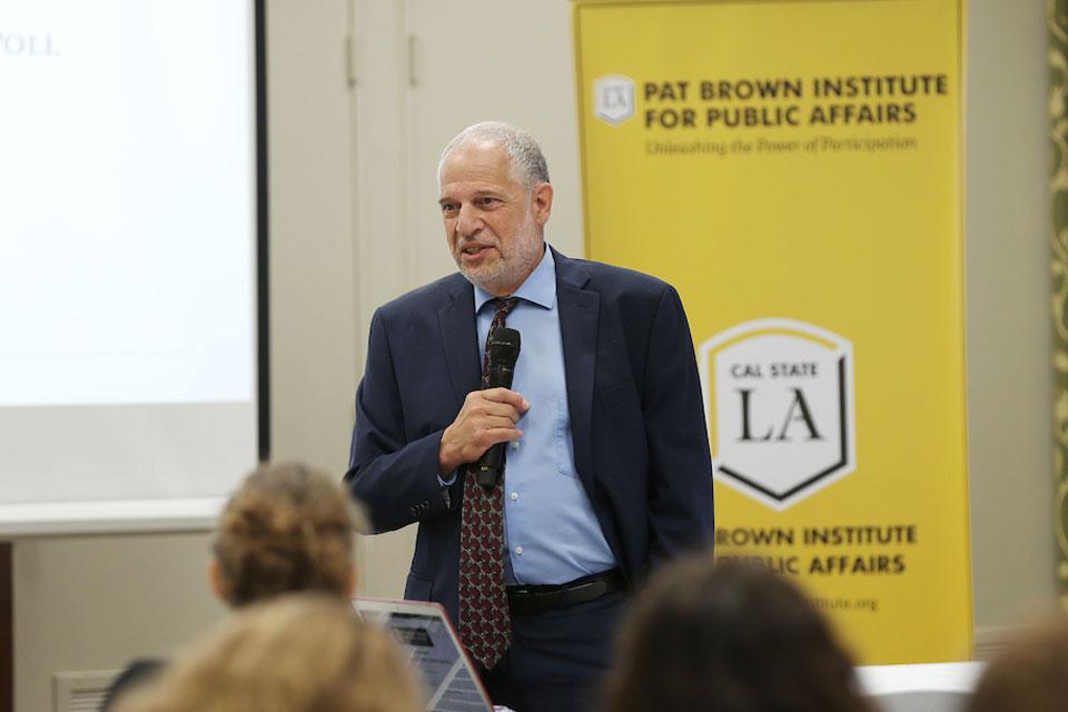 Raphael J. Sonenshein speaks about the poll findings.