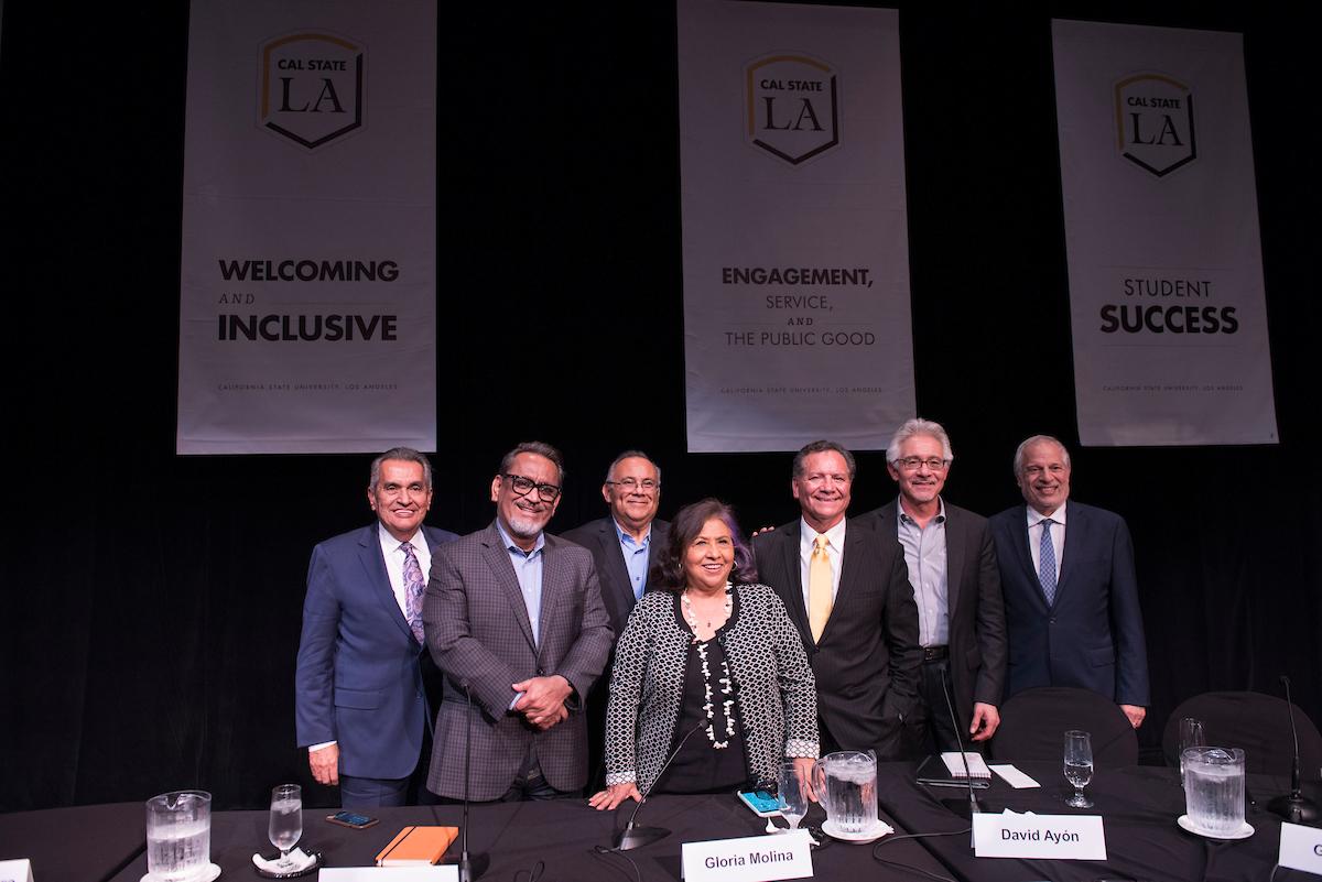 Richard Alatorre, Gil Cedillo, Richard Polanco, Gloria Molina, George L. Pla, David R. Ayón and Raphael J. Sonenshein.