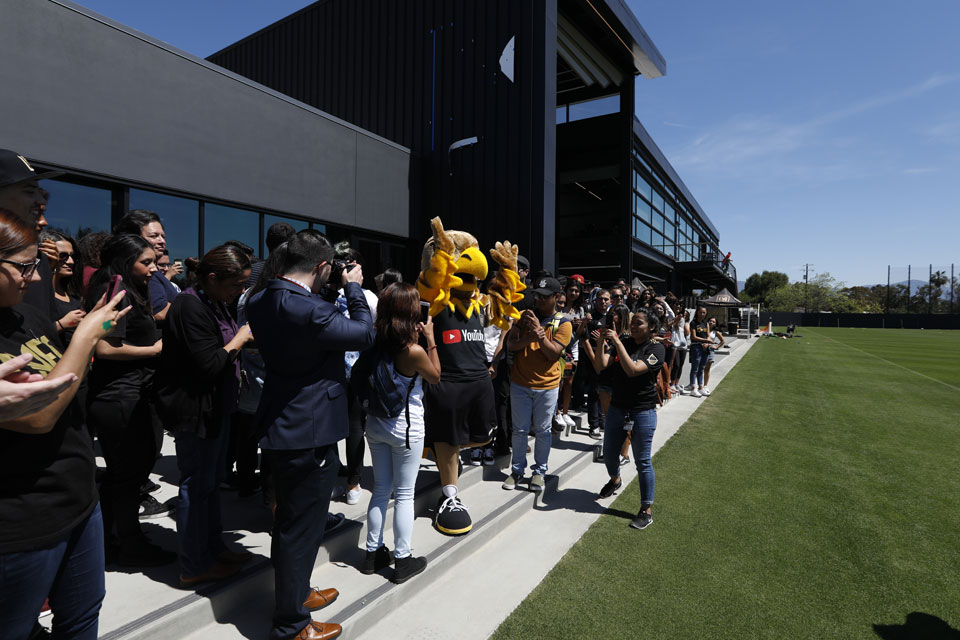 Eddie the Golden Eagle at the LAFC Performance Center @ Cal State LA.