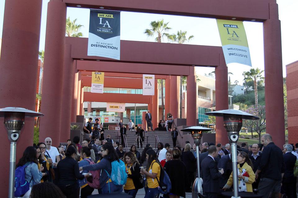 Cal State LA community in attendance for the We Are LA Campaign