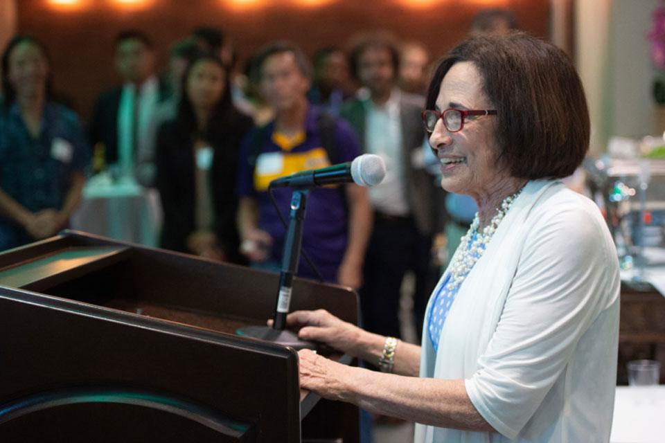 Jill Alder Moore speaks at LaBioSpace event