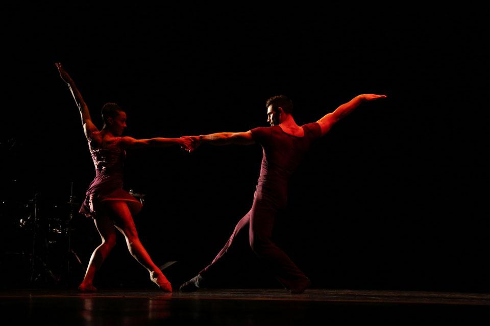 Ballet Hispanico dancers perform at the We Are LA camapign launch.