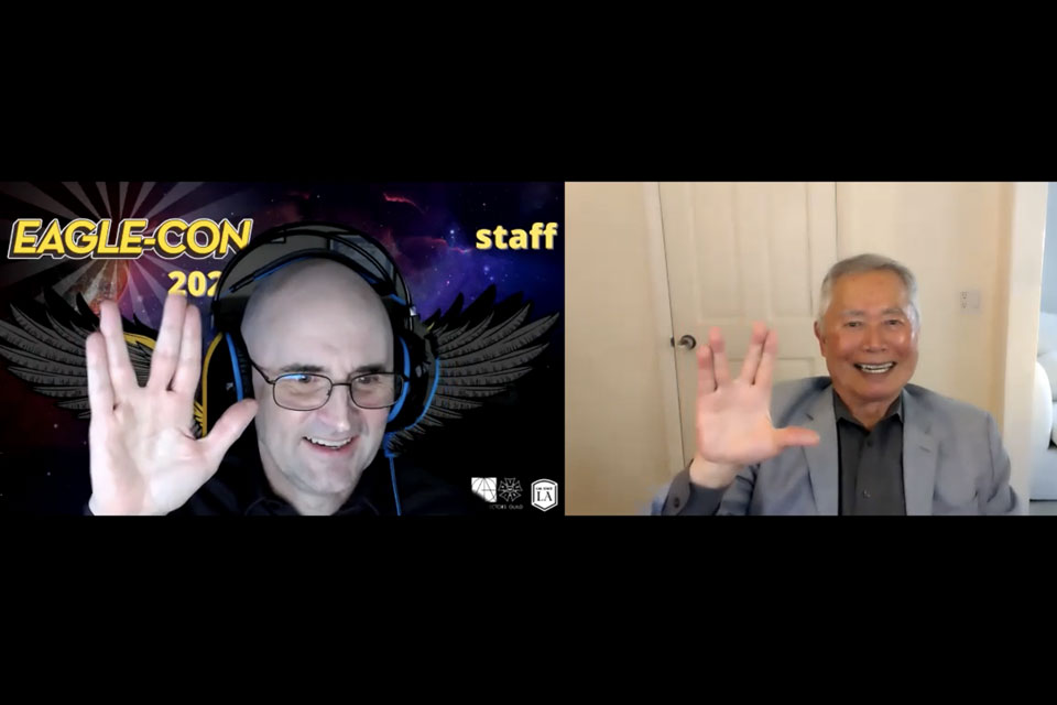 Legendary actor George Takei honored at Eagle-Con 2021