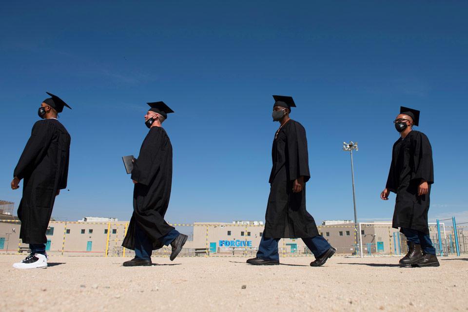 Students in Cal State LA's Prison B.A. Graduation